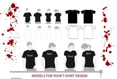 Ilustraciones de la camiseta
