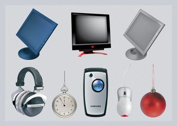 Objetos de tecnologia Vector 3D grátis