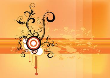 Grunge Scroll Vector Wallpaper