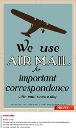 Nós usamos o cartaz do correio aéreo