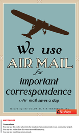 We Use Air Mail Poster
