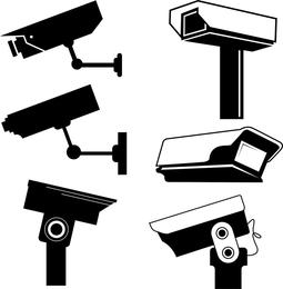 Cámara de seguridad de diseños vectoriales