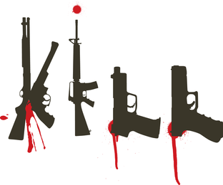 Bloody Guns Vector Set