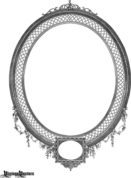 Detailed Decorative Oval Frame