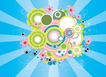 Diseño colorido gráfico vectorial