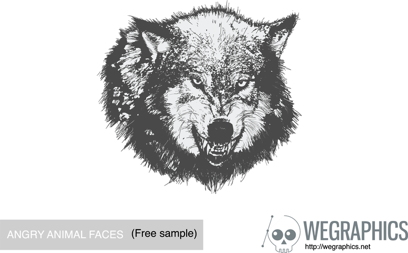 Angry wolf illustration - Vector download