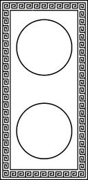 Design grego vertical
