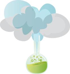 Diseño de icono de fórmula química