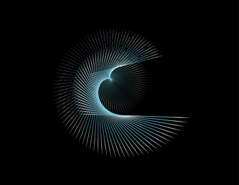 Blue Flowing Curves Free Vector