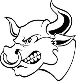 Imagen vectorial de toro enojado