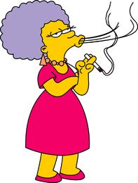 Patty Bouvier Smoking cigarrete