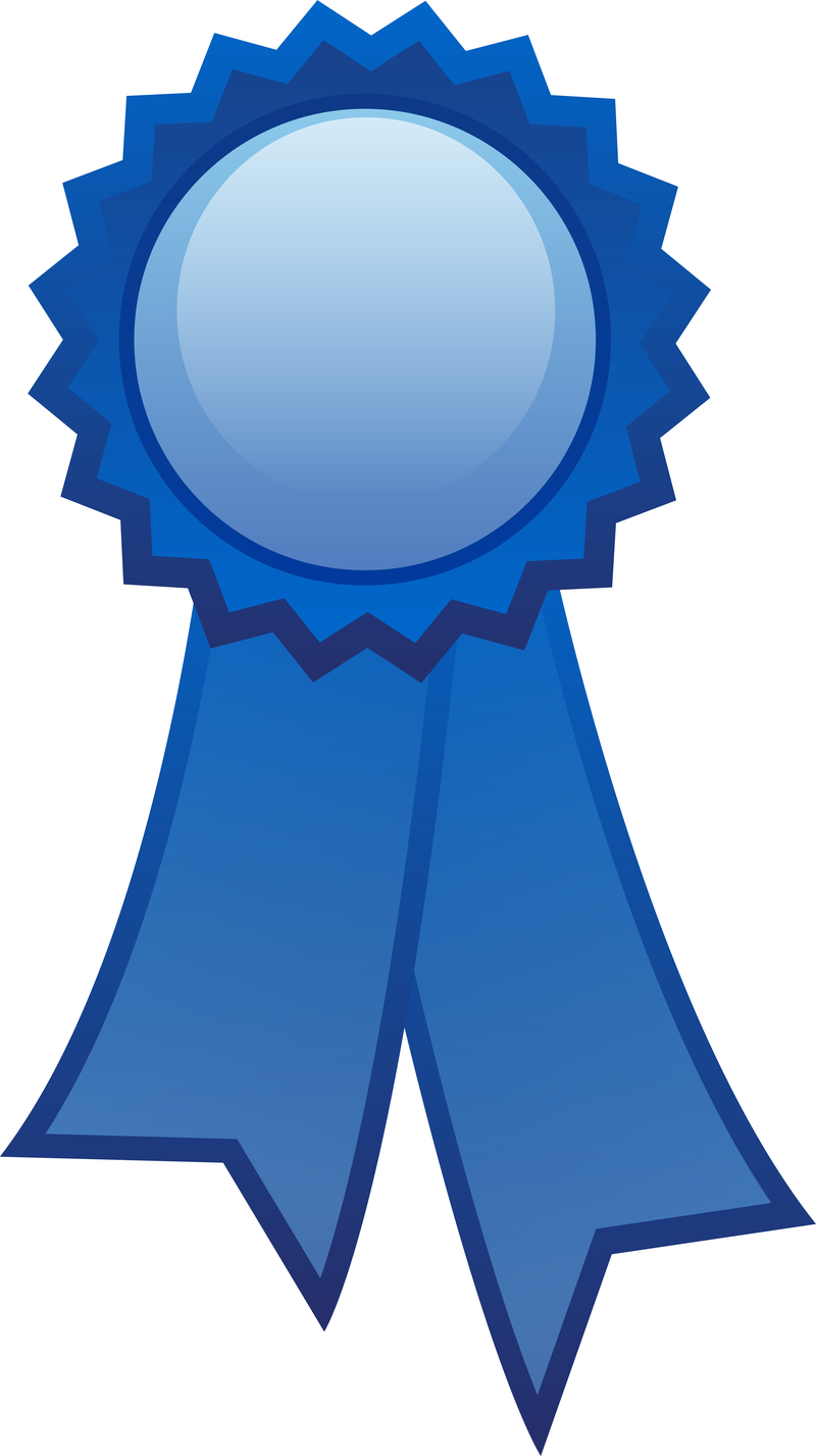 Blue Ribbon Decoration Free Vector - Vector download