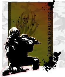 Este vector del ejército de guerra