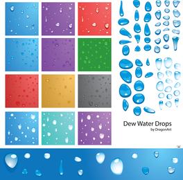 Vector Dew Water Drops