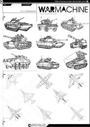 Vetor de avião e tanque