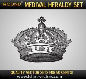 Coroa de amostra de heráldica