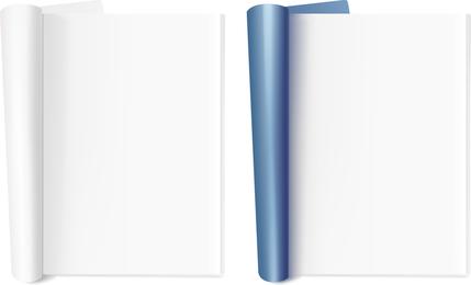 Material de vector de bloc de notas