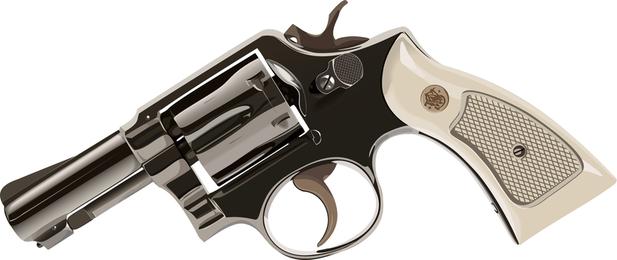 Material de vetor de revólveres