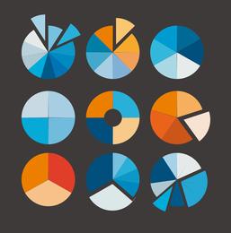 Pie Chart Vector Set