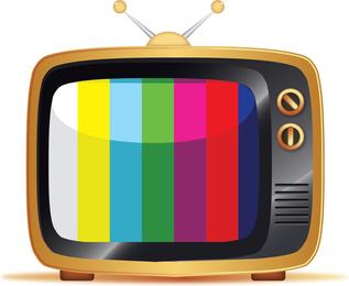 Libre de ilustración vectorial Tv Vieja