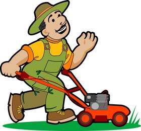 Garden Pruning Work 01 Vector