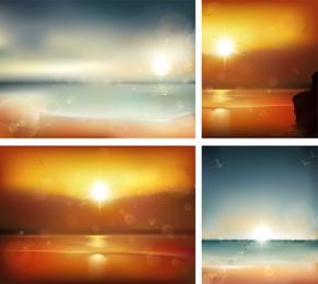 O vetor de vista de mar nebuloso 01
