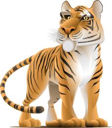O vetor de fotos do tigre 07