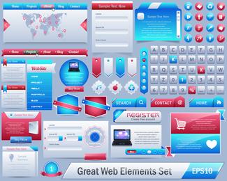 El exquisito vector de elementos de página