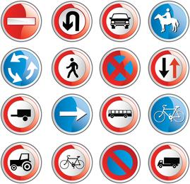 Iconos de señales de tráfico