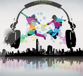 The Trend Of Music City Vector