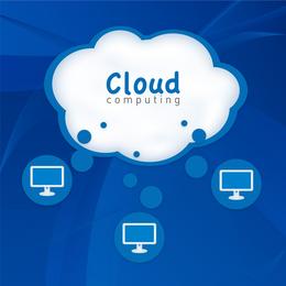 Ilustração em vetor de computação em nuvem