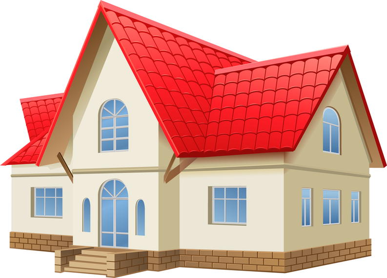 Isolated Three Dimensional House Vector Download