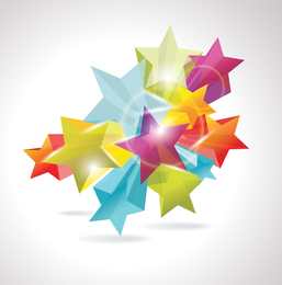 Brilliant Dynamic Fivepointed Star 02 Vector