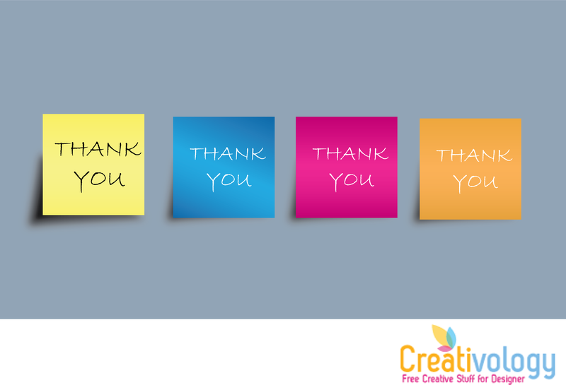 Free Vector Thank You Note