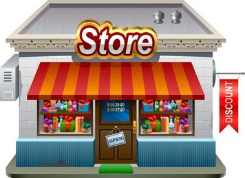 Small Shops Model 01 Vector