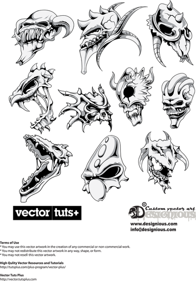 Avatar Of Warcraft Terror 03 Vector