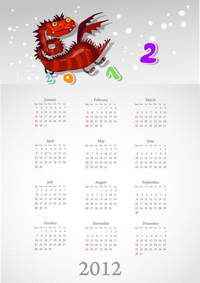 Calendar 2012 Calendar 05 Vector