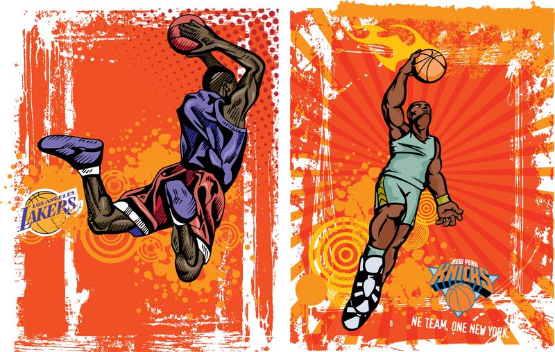 Vector Basketball Trend