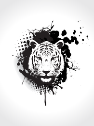 Tiger Image 04 Vector