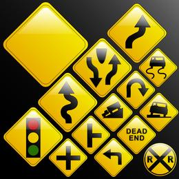 Vetor de sinais de tráfego 2