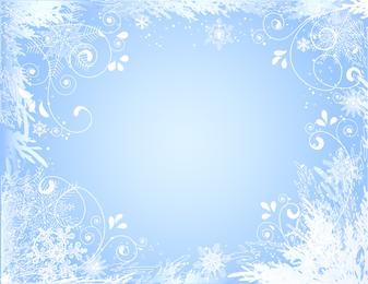 Hermoso vector de marco de fotos de copo de nieve
