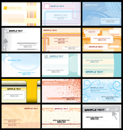 Fine Card Template Vector