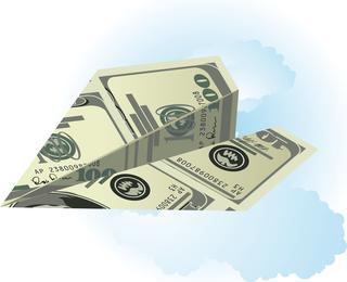 Vector Folded Dollar Items
