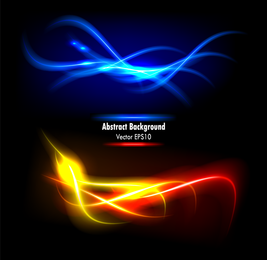 Colorful Dynamic Flow Line 04 Vector