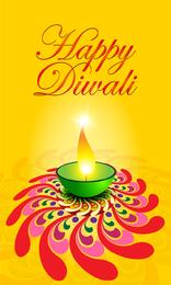 Exquisite Diwali Card 05 Vector