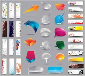 Vetor de Design de cartão de tendência 03