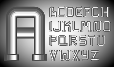 Diferentes Letras 01 Vector