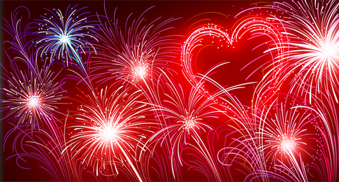 Heart shaped firework design