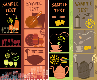 Handpainted Tableware Illustration Vector