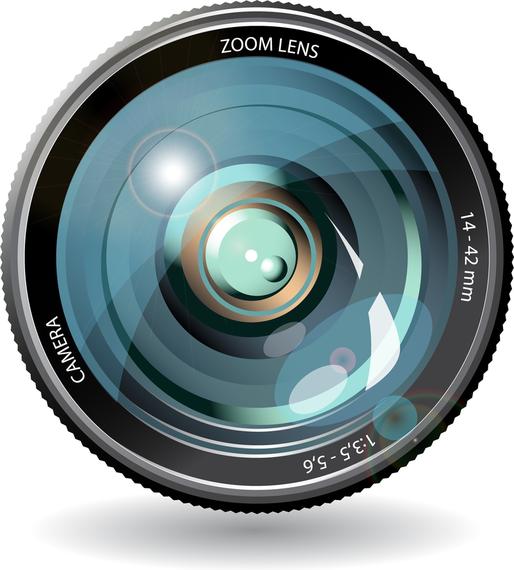Lente de câmera 05 Vector